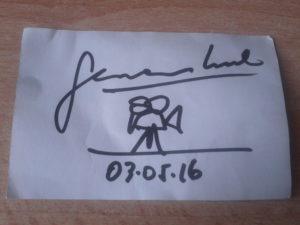 German Kral's autograph